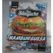 BJ1SCA - HAMBURGUESA DON SANGUCHE 100g  APROX x 48 un = 4.8 Kg CONGELADO